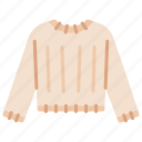 clothes, knitted, outfit, shopping, sweater, winter icon