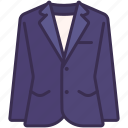 blazer, clothes, fashion, formal, outfit, suit icon