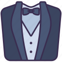 clothes, formal, outfit, suit, tuxedo, wedding icon