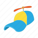 cap, cartoon, cloth, funny, hat, head, propeller icon