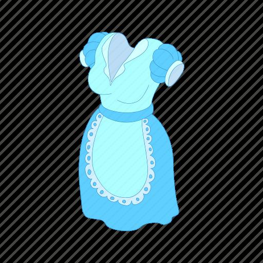 apron, cartoon, character, cute, dress, girl, woman icon