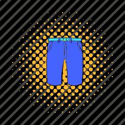 cloth, comics, fashion, male, men, pants, shorts icon