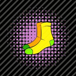 cloth, clothing, comics, design, men, season, socks icon