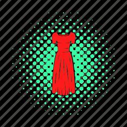 clothing, comics, dress, fashion, model, red, women icon