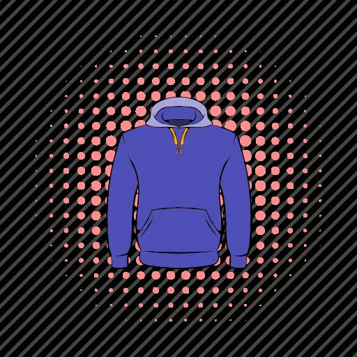 cloth, comics, fashion, hoodies, men, sleeve, sweatshirt icon