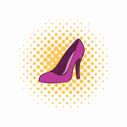 comics, fashion, glamour, heel, high, shoes, women icon
