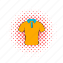 casual, cloth, comics, fashion, men, polo, shirt icon