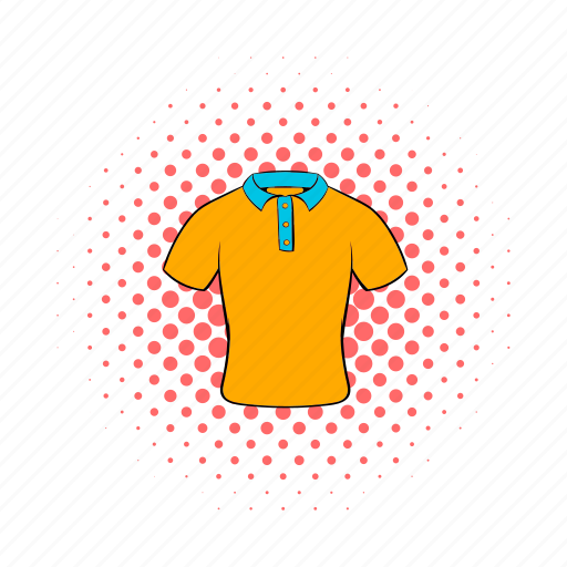 casual, cloth, comics, fashion, men, polo, shirt icon