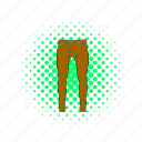 blog, cloth, comics, fashion, men, pant, trousers icon