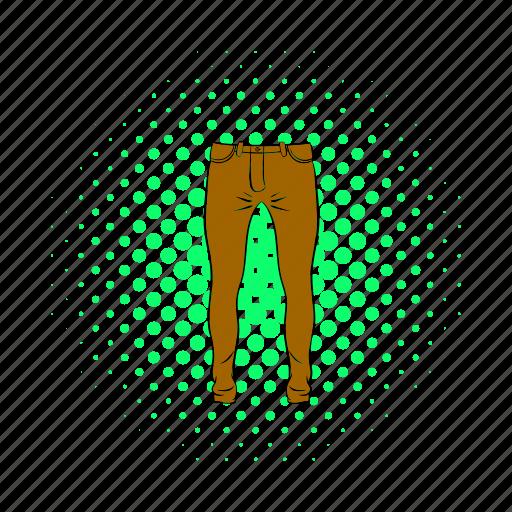 blog, cloth, comics, fashion, men, pant, trousers icon