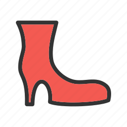 boot, fashion, female, heels, style, tall, woman icon