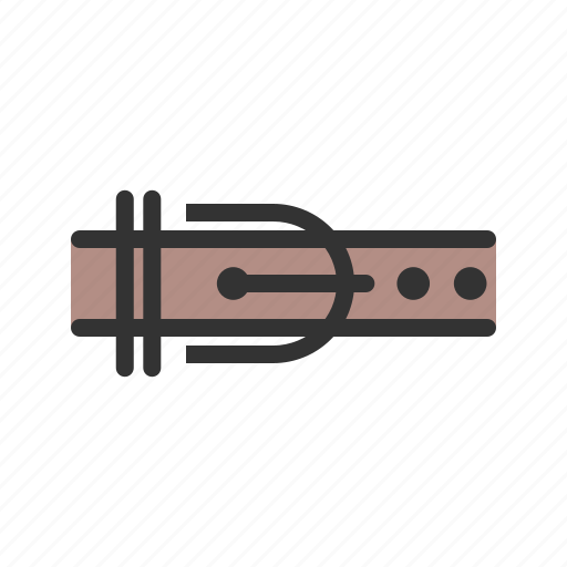 belt, brown, buckle, fashion, hole, strap icon