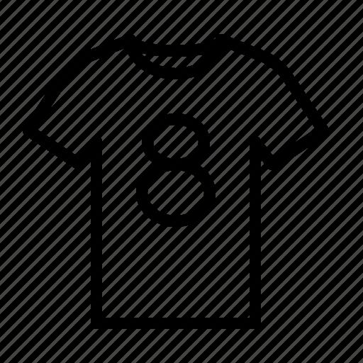ios, number, shirt, sport, t, tee, tshirt icon