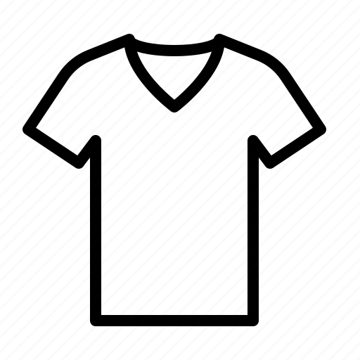 clothes, ios, neck, shirt, tee, tshirt, v icon