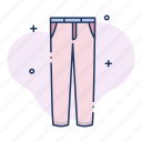 apparel, clothing, denim, jeans, pants, trousers icon