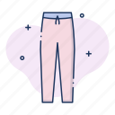 apparel, clothing, garment, pants, trousers icon