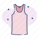 clothing, shirt, singlet, sportswear, undershirt, vest icon