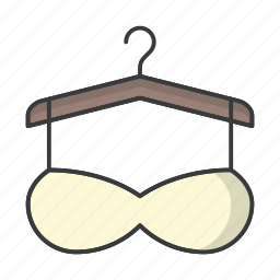 bra, clothes, clothing, fashion, hanger, underpants, underwear icon