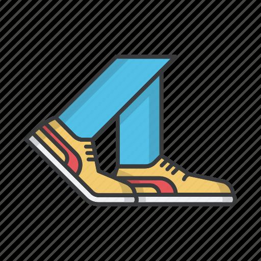 fashion, footwear, legs, man, sneakers, speakers icon