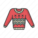 clothes, fashion, pullover, shirt, sweater, winter icon