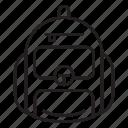backpack, camping, knapsack, bag icon