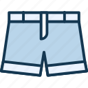 baggy knickers, britches, carpenter shorts, denim mini shorts icon