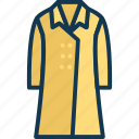 clothing, fashion, garment, long coat icon