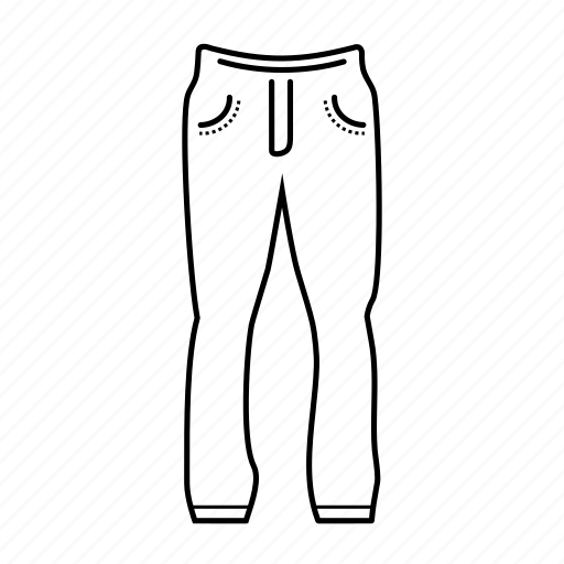 apparel, clothing, man, pants, sport trousers, trousers icon