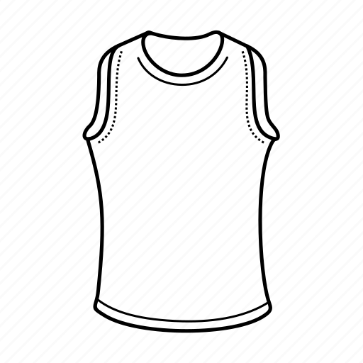 clothing, men's underwear, shirt, sliveeless shirt, underclothers, undershirt, vest icon