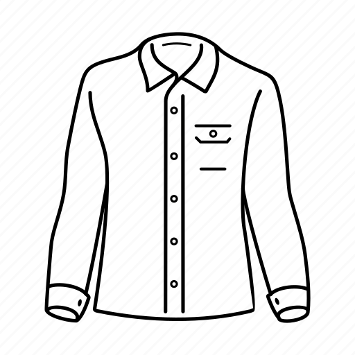 apparel, clothing, fashion, full, man, shirt icon