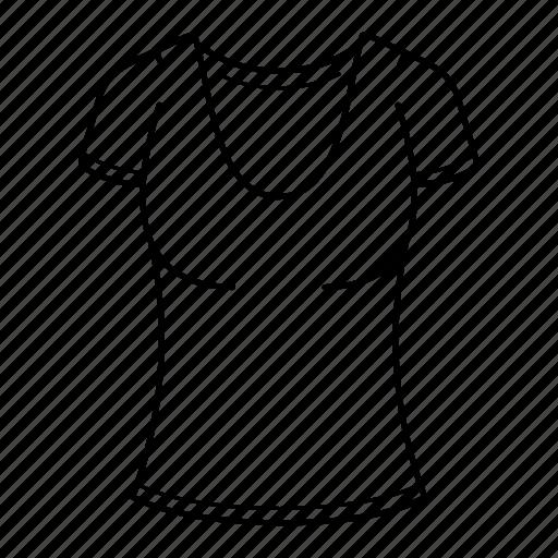 clothes, clothing, fashion, half, shirt, tshirt, women icon