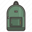 backpack, bag, outdoors icon