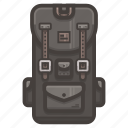 backpack, hiking icon