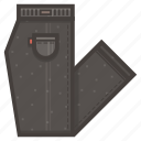 clothing, folded, pants icon