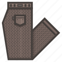 brown, clothing, folded, pants icon