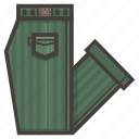 clothing, folded, green, pants icon
