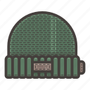 green, hat icon
