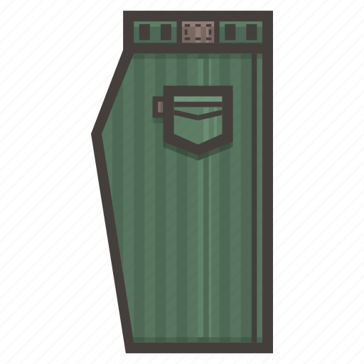 clothing, green, pants icon