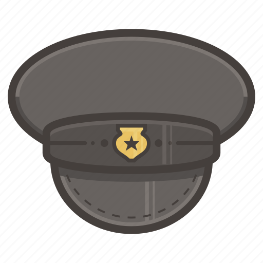 hat, law, police icon