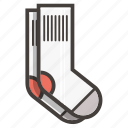 footwear, socks icon