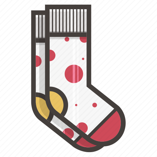 dots, footwear, socks icon
