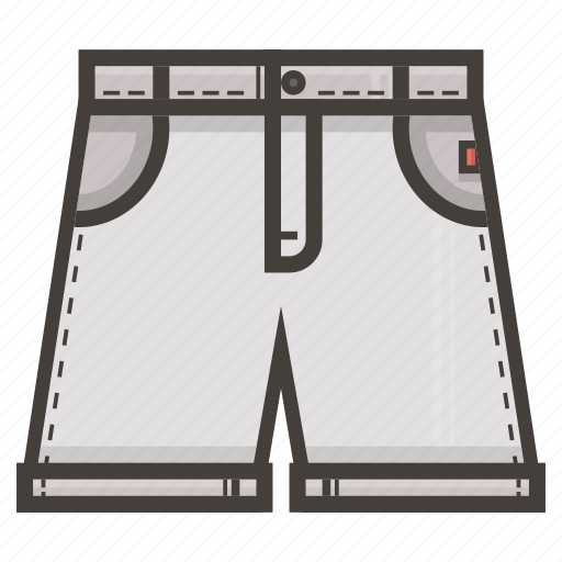 clothing, jeans, pants, short, white icon