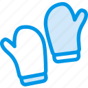 clothes, clothing, dress, fashion, gloves, snow icon
