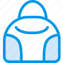 bag, clothes, clothing, dress, fashion, hand, shop icon