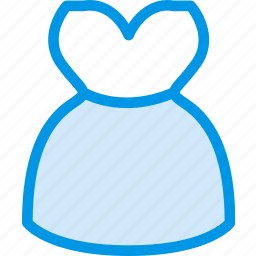 clothes, clothing, dress, fashion, strapless, with icon