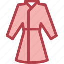 clothing, dress, fashion, housecoat icon