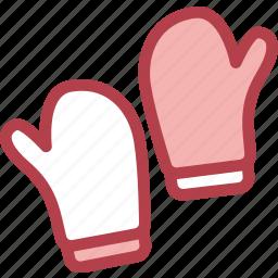 clothing, dress, fashion, gloves icon