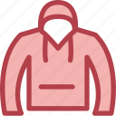 clothing, dress, fashion, hoodie icon