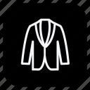 cloth, clothing, coat, dress, jacket, man, woman icon
