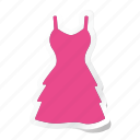 clothes, clothing, dress, fashion, man, party dress, woman icon